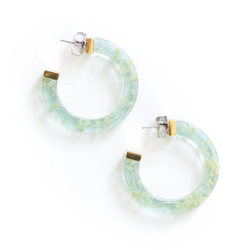 Floating Flower Earring, Blue