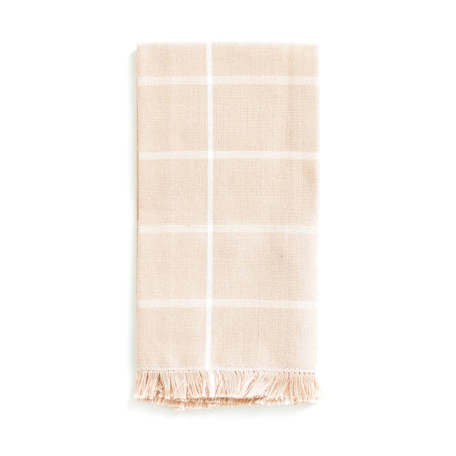 Grid Napkin, Peach