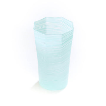 Octagonal Twist Vase, Blue