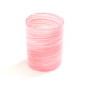 Twist Tumbler Glass, Pink