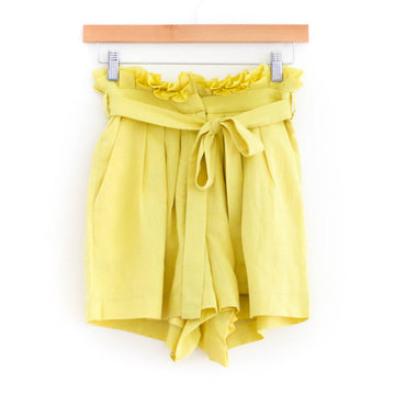 Pacific Pleated Shorts Lemon