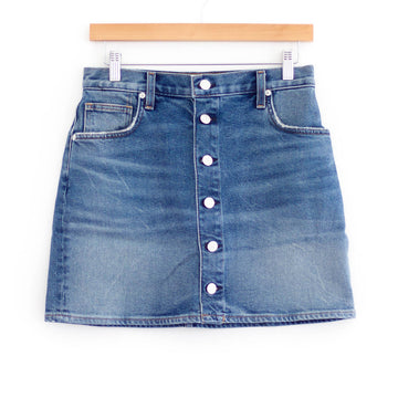 Denim Button Skirt