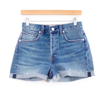 Vinyl Denim Short