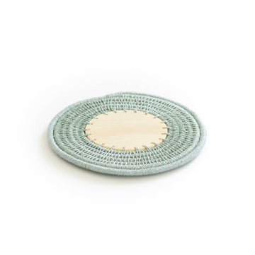 Sisal & Wood Coaster, Pool