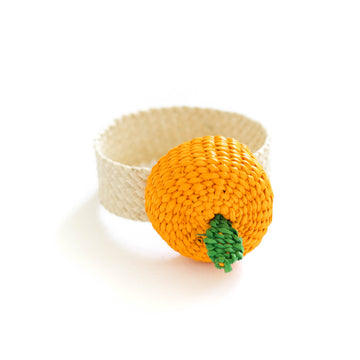 Palm Orange Napkin Ring
