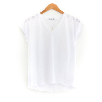 Performance Sleeve Tee, White
