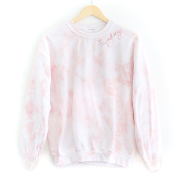 Tie-Dye Adult Sweatshirt, Blush