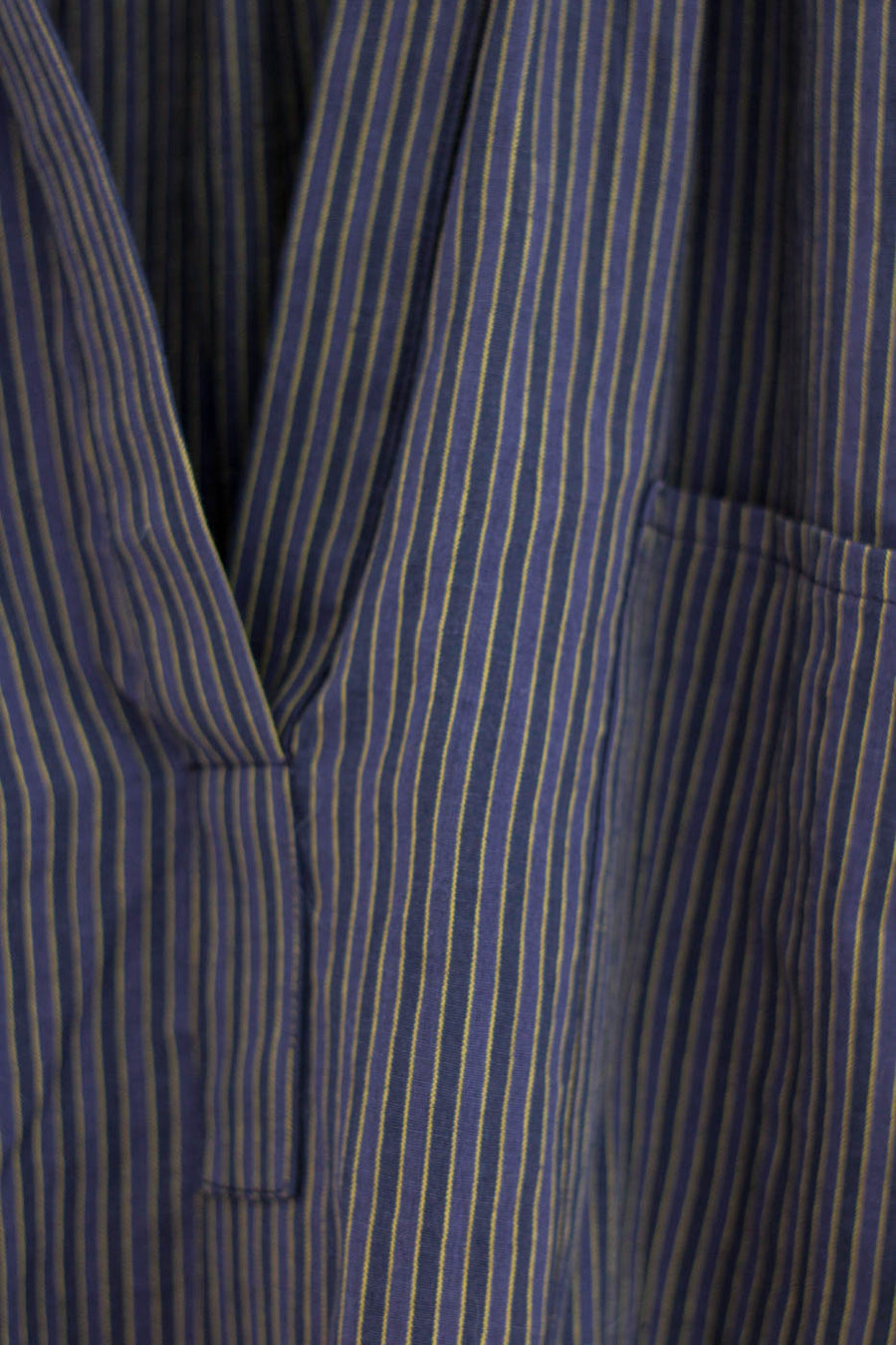 Stripe Pocket Shirt, Purple x Blue Stripe