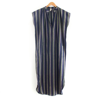 Patch Pocket Dress, Purple Stripe
