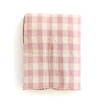 Gingham Tablecloth, Rose