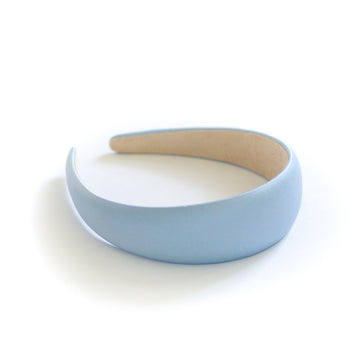 Simple Satin Headband, Sky