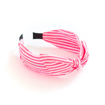 Neon Stripe Headband, Pink