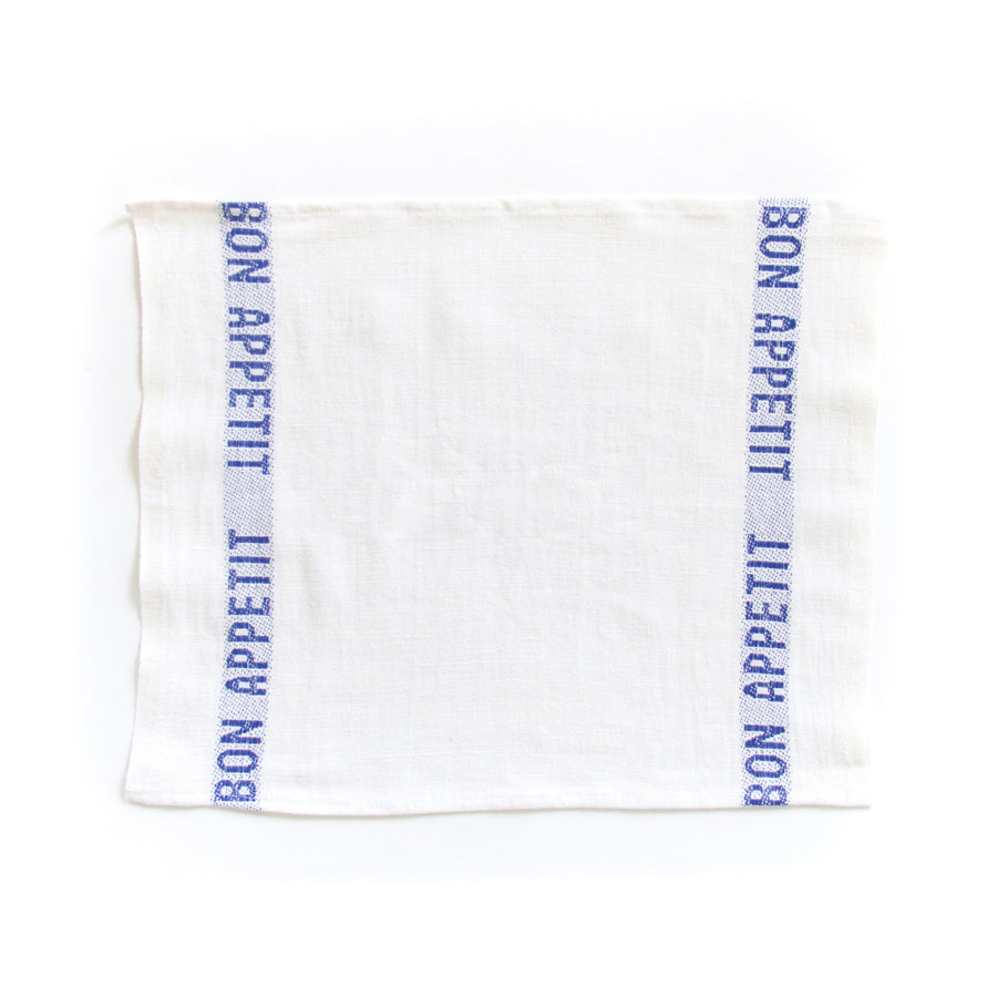 Bon Appetit Placemat, White x Blue