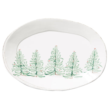 Fir Tree Oval Platter