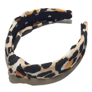 Silk Knotted Headband, Leopard