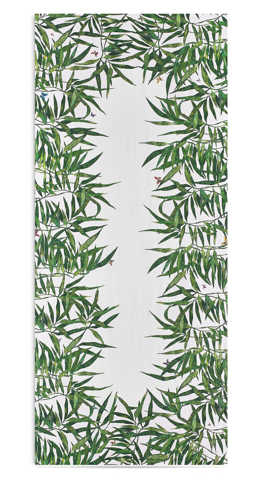 Les Palmiers Linen Tablecloth, Green