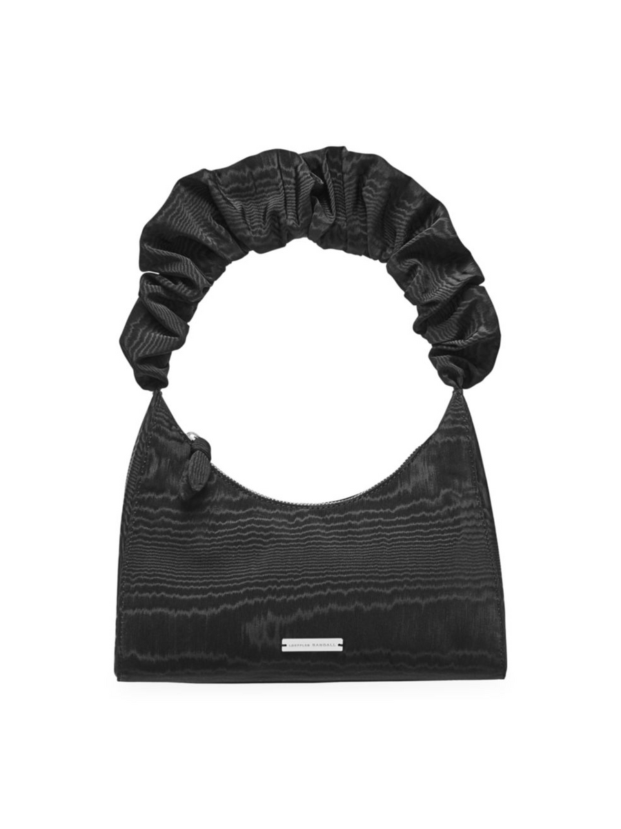 Aurora Scrunchie Strap Bag, Black