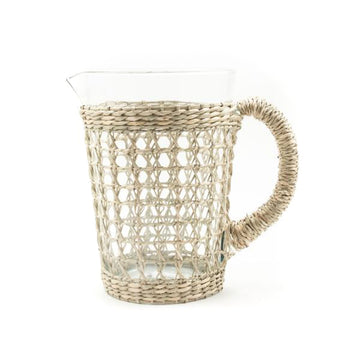 Seagrass Cage Pitcher With Handle