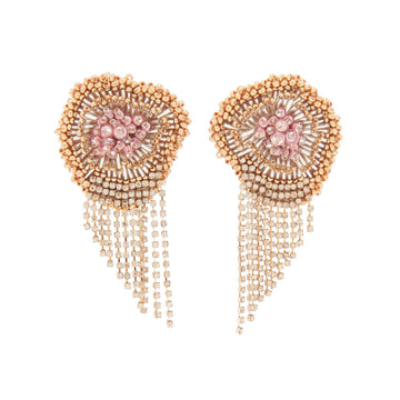 Milly Chain Earrings, Pink