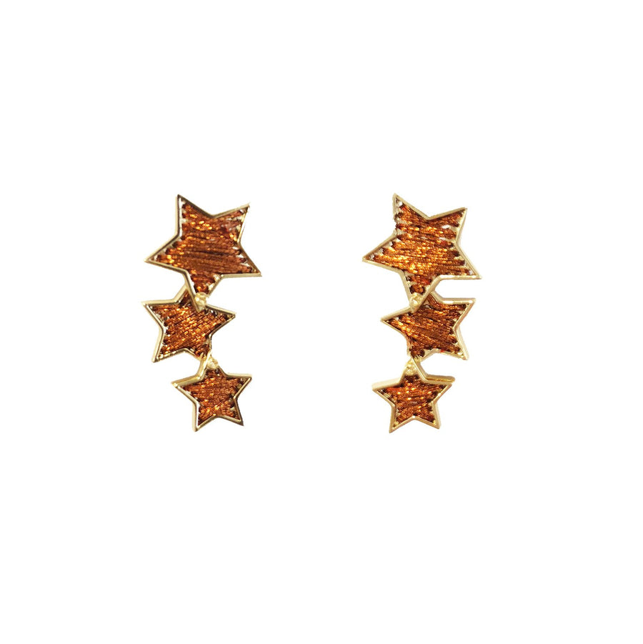 Star Earring, Bronze x Gold
