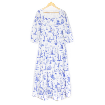 Ixora Dress, Toile De Jouy