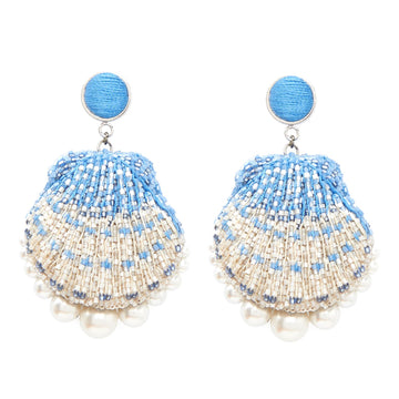 Ariel Earring, Light Blue