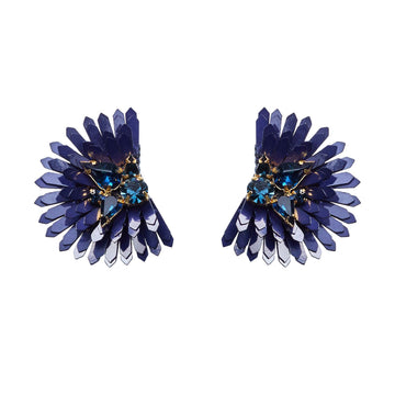 Ellie Earring, Navy