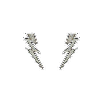Lightning Bolt Earring, Silver