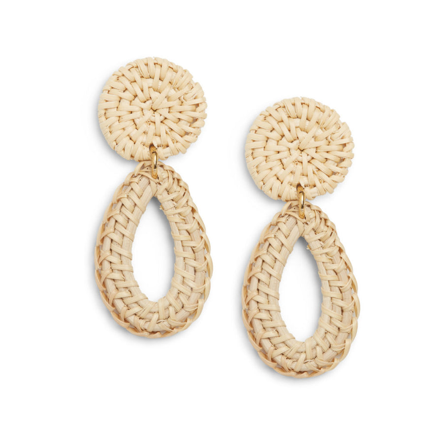 Rattan Tear Drop Earring