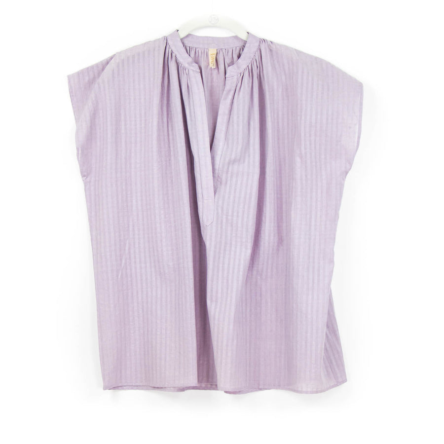 Khadi Stripe Top, Lavender
