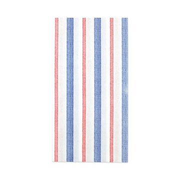 Capri Stripe Guest Towels, Blue x Red