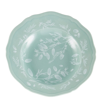 Richard Ginori Deep Floral Dish, Soft Green