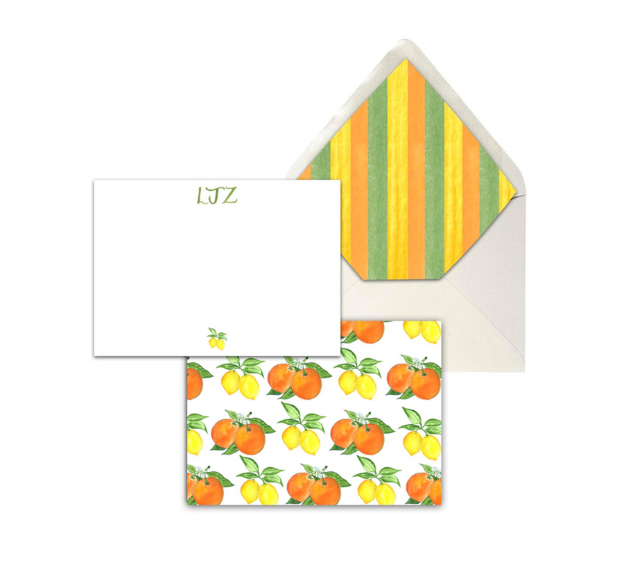 Citrus Stationery Set