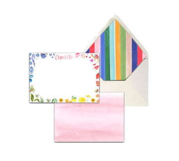 Circus Stripe Stationery Set, Kids
