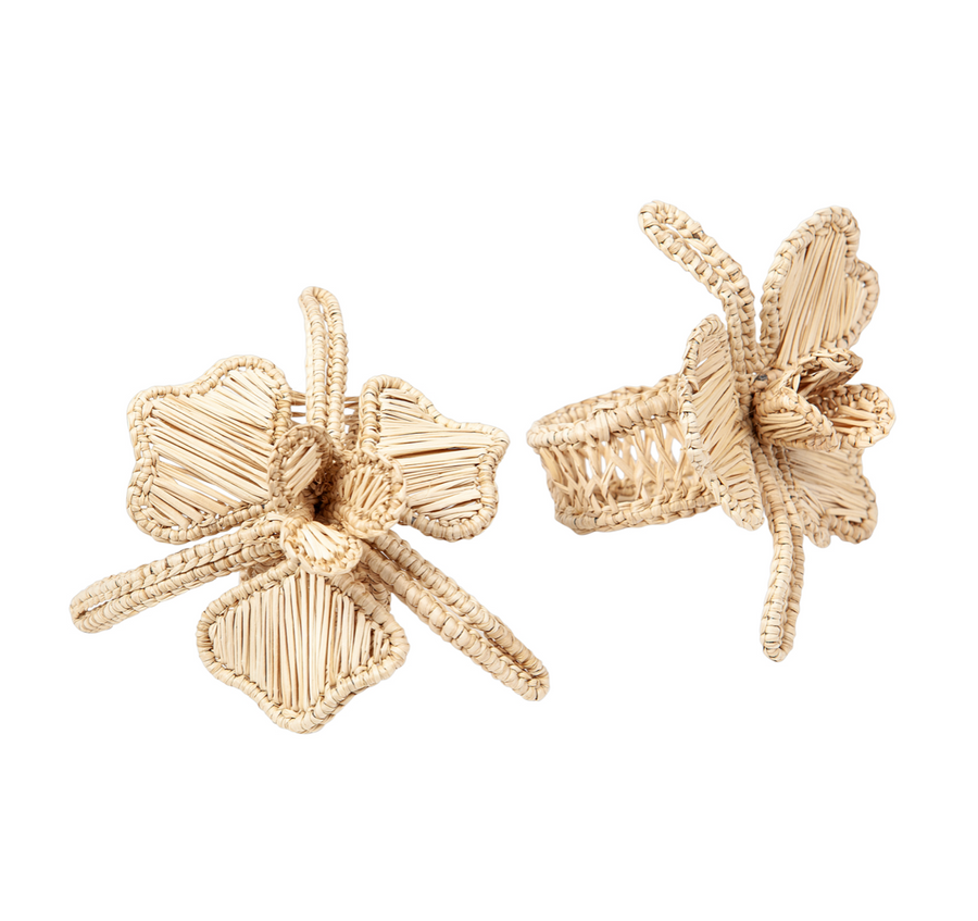 Orchid Rattan Napkin Ring