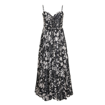 Maidstone Floral Dress, Black x White