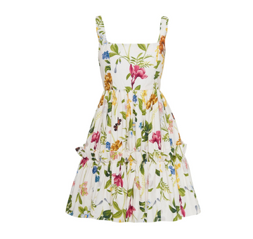 Sasha Floral Dress, Ivory