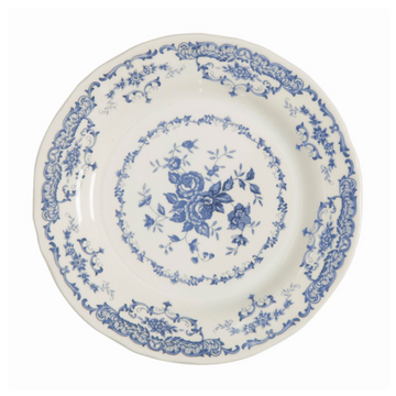 Floral Dinner Plate, Classic Blue