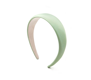 Simple Satin Headband, Mint