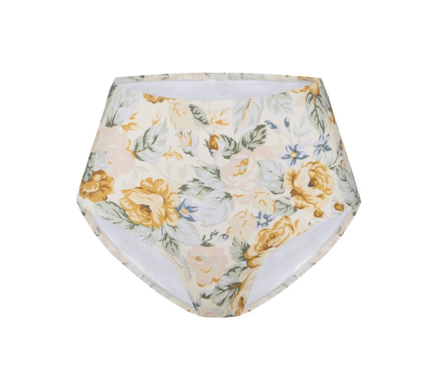Citrus Floral High Waisted Bottom