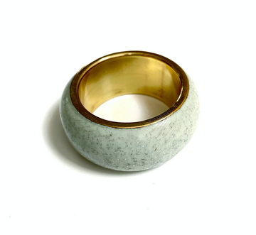 Dome Napkin Ring, Mint x Brass