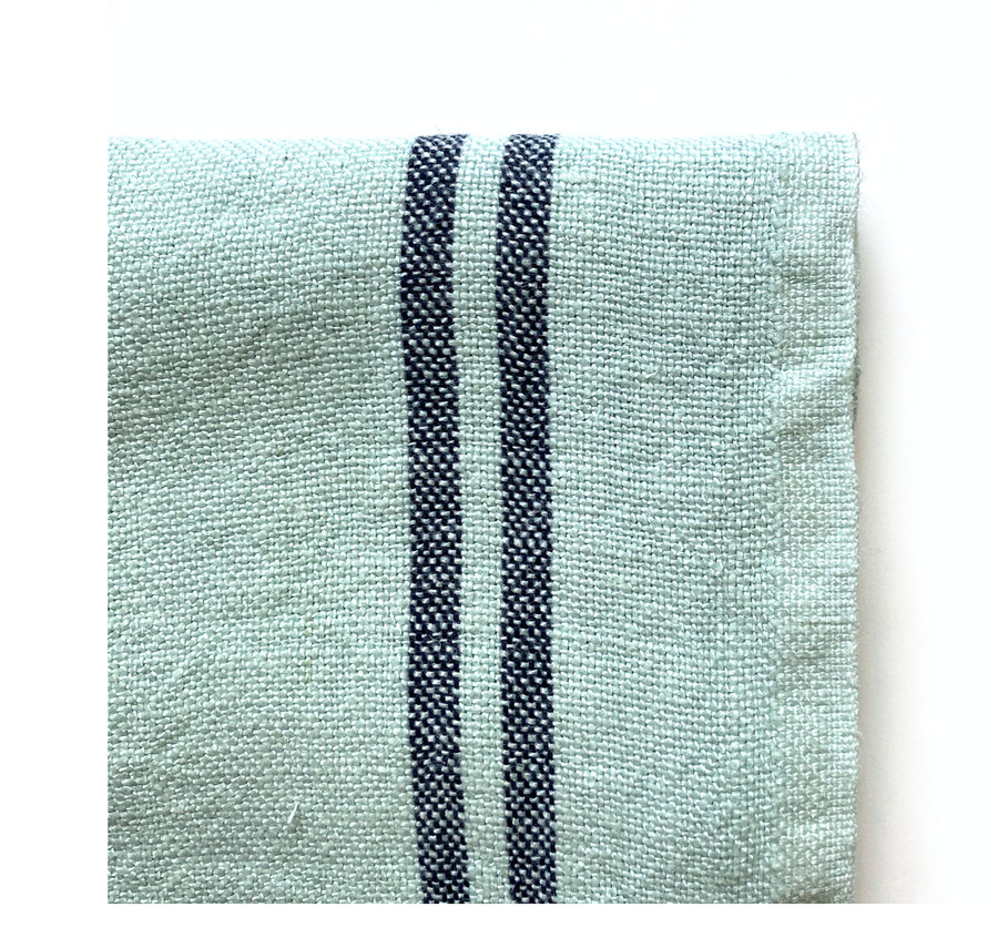 Country Stripe Tea Towel, Blue