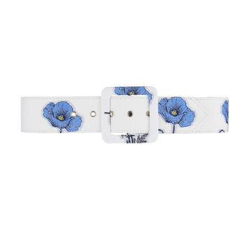 Gloria Wide Belt, Blue Poppy
