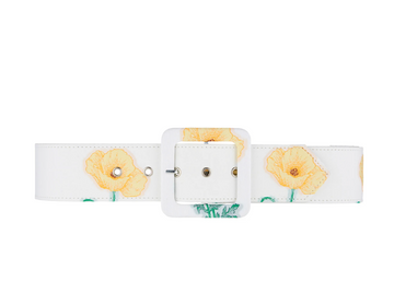 Gloria Wide Belt, Yellow Poppy
