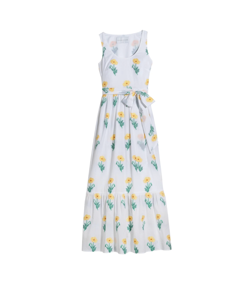 Genevieve Dress, Yellow Poppy