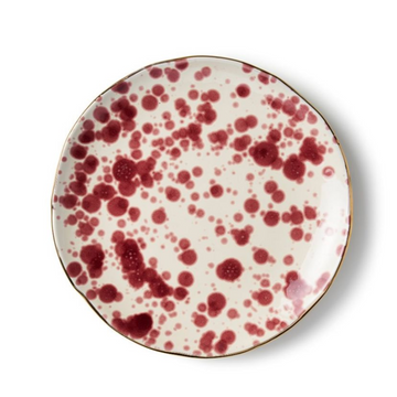 Splatter Salad Plate, Red