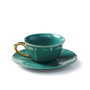 Cappuccino Cup With Saucer, Green