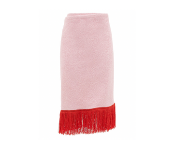 PareoTop Towel Pink & Red Fringe