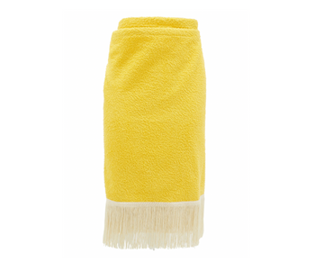 PareoTop Towel Yellow & White Fringe