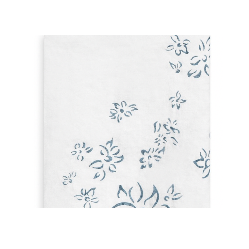 Falling Flowers Tablecloth, Light Blue